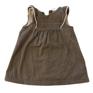 3/$25 H&M Kids Brown Herringbone Dress 9-12M